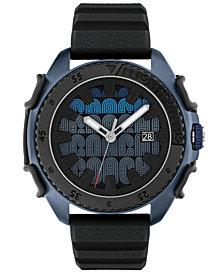 COACH Men's C001 Black Rubber Strap Watch 45mm