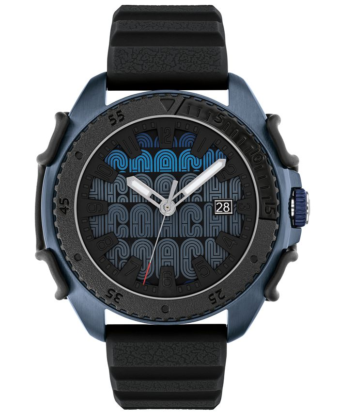 COACH - Men's C001 Black Rubber Strap Watch 45mm