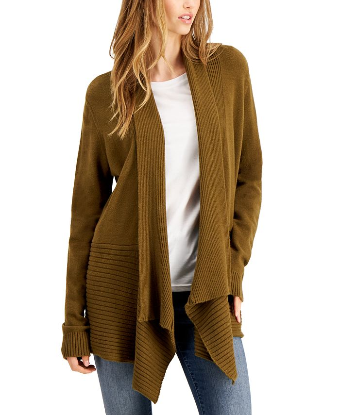 Fever - Ribbed Waterfall Cardigan