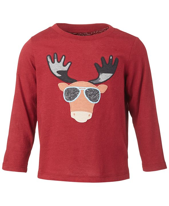 First Impressions Baby Boys Cool Moose Tee, Created for Macy's