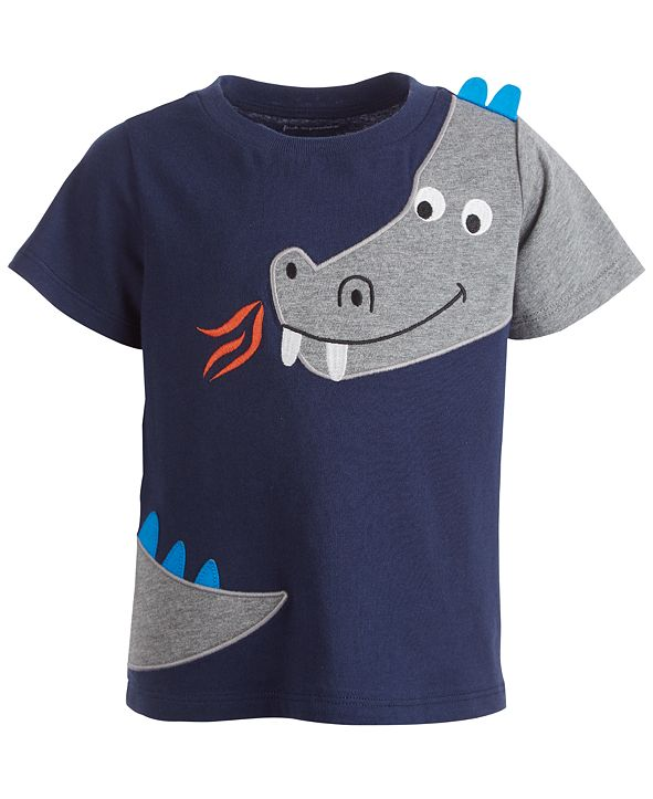 First Impressions Baby Boys Short Sleeve Dragon Tee, Created for Macy's