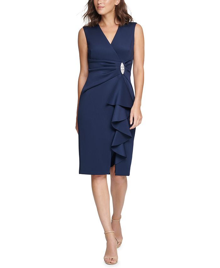Jessica Howard - Surplice Sheath Dress