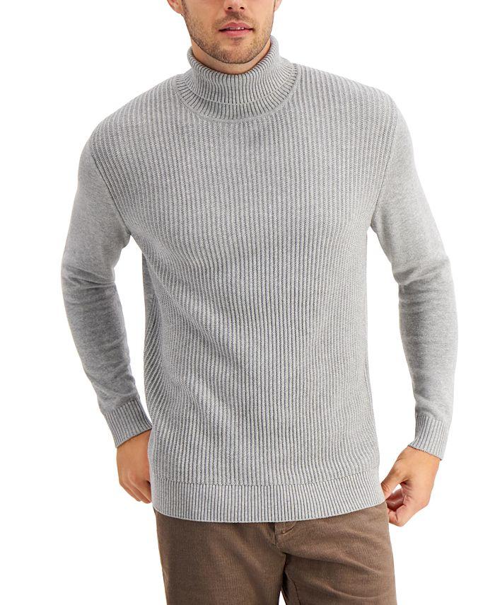 Club Room - Men's Textured Cotton Turtleneck Sweater
