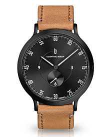 Lilienthal Berlin L1 All Light Brown Leather Strap Watch, 42mm