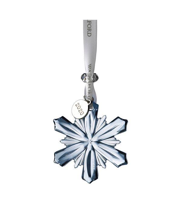 "Waterford Mini Snowflake Ornament 2.5"" Topaz Ice"
