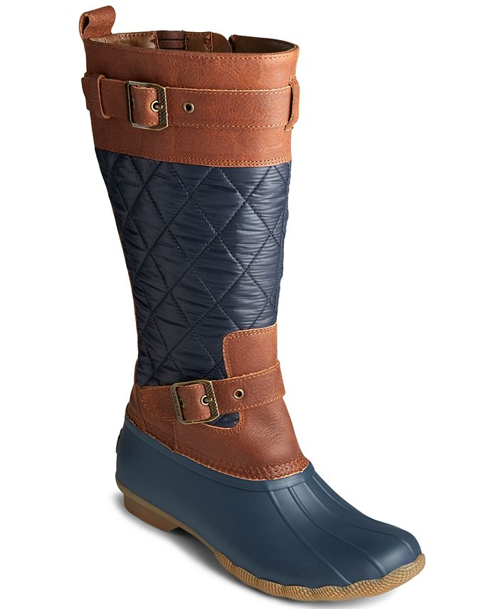 Sperry - Women's Saltwater Buckled Quilted Boots