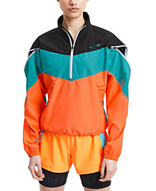 Puma Women's Train First Mile Xtreme Colorblocked Half-Zip Training Jacket