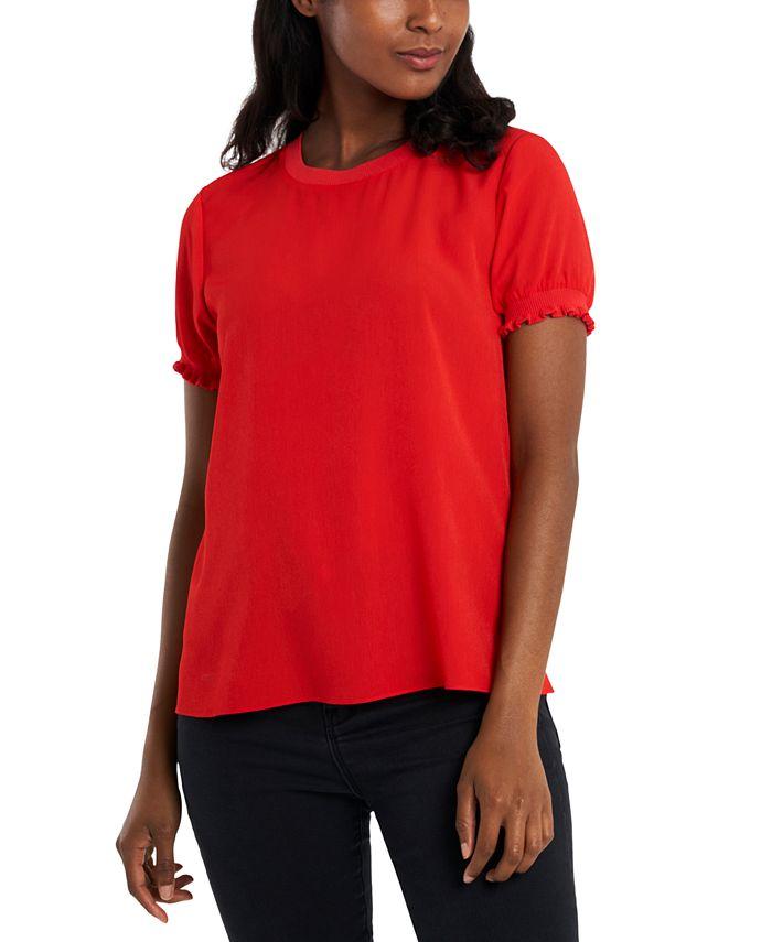 Riley & Rae - Smocked-Cuff T-Shirt