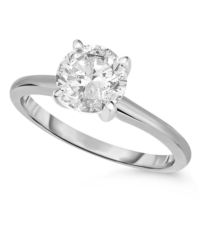 Macy's - Diamond (1 ct. t.w.) Engagement Ring in 14K White, Yellow or Rose Gold