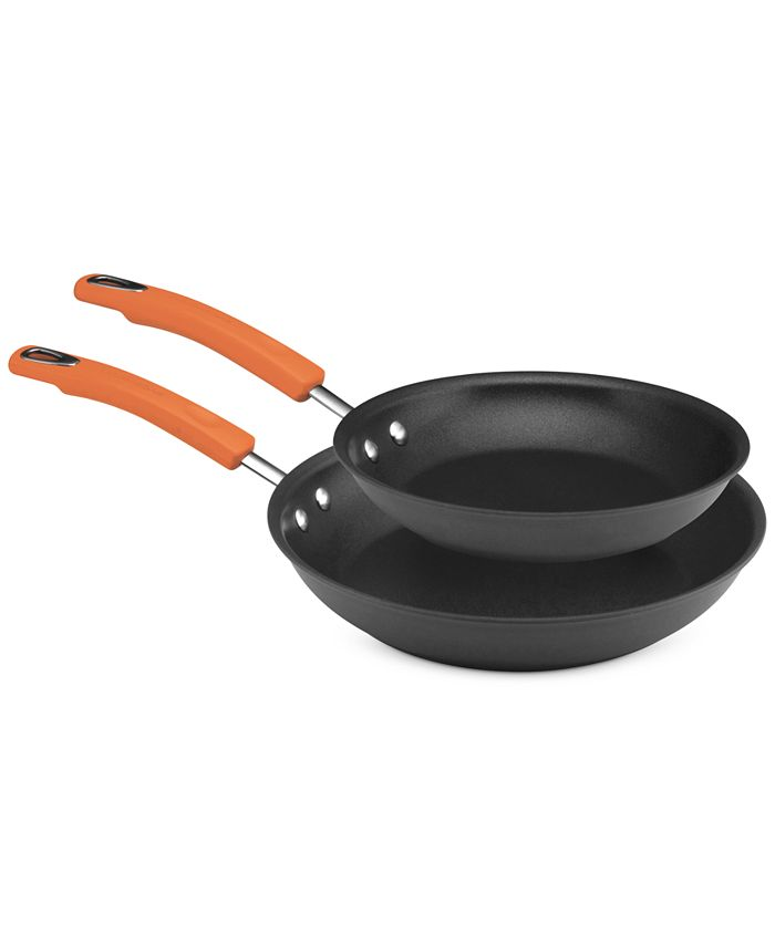 "Rachael Ray - Hard Anodized Skillet Set, 9.25"" & 11"""