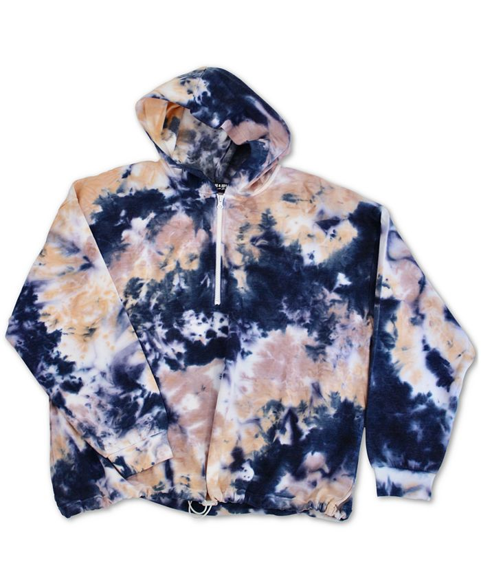 FULL CIRCLE TRENDS - Trendy Plus Size Tie-Dyed Hoodie