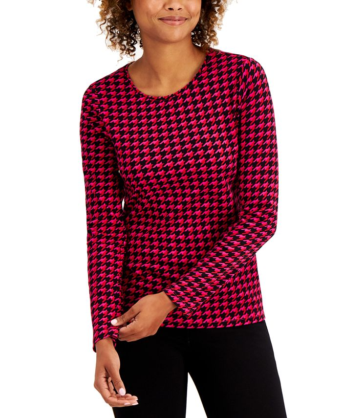 Charter Club - Cotton Houndstooth Top