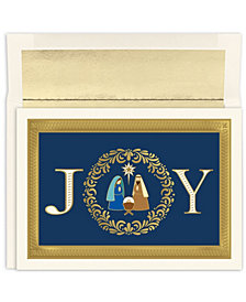 Masterpiece Cards Joy Nativity Holiday Boxed Cards, 16 Cards and 16 Envelopes