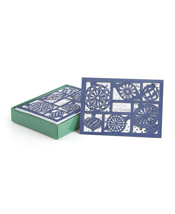 Masterpiece Cards Ornaments Sparkle Holiday Boxed Cards, 12 Cards and 12 Envelopes