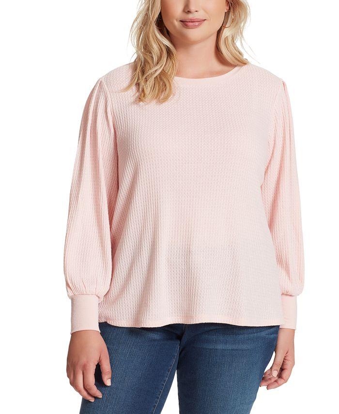 Jessica Simpson - Trendy Plus Size Puff-Sleeve Top