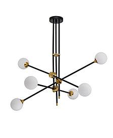 "Home Accessories Emillo 41"" 6-Light Indoor Chandelier with Light Kit"