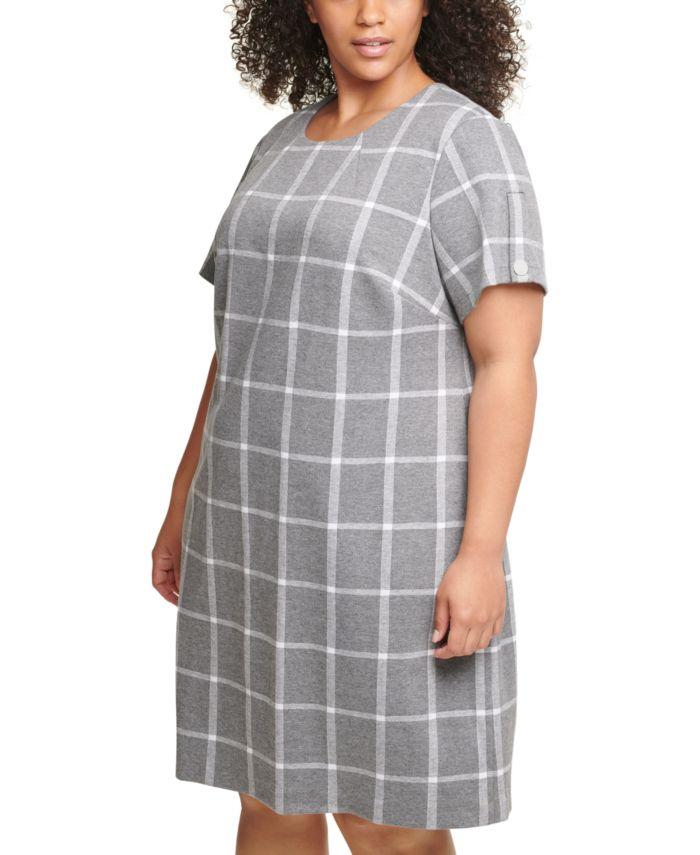 Tommy Hilfiger Plus Size Plaid Shift Dress  & Reviews - Dresses - Plus Sizes - Macy's