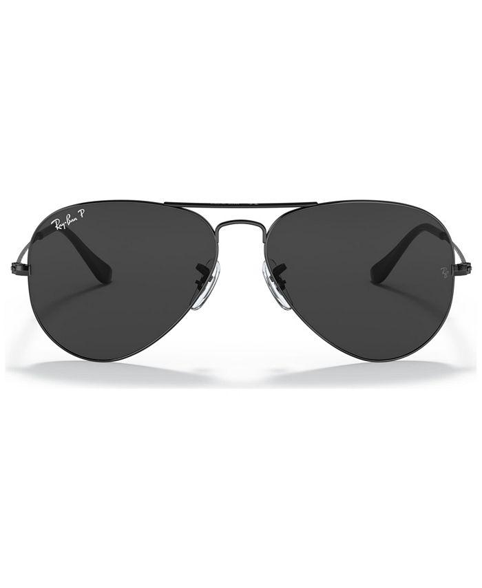 Ray-Ban - Unisex Polarized Aviator Sunglasses, RB3025 58