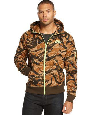 Nike Men S Hoodie Heritage Camo Full Zip Hoodies