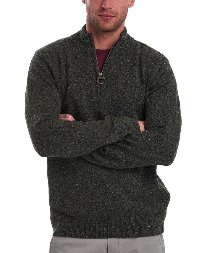 Barbour - Men's Tisbury Half-Zip Rib-Cut Pullover Sweater