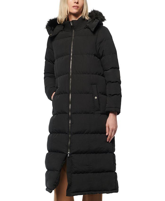 Marc New York - Faux-Fur-Trim Hooded Puffer Coat