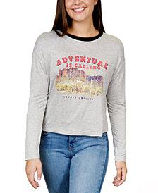 Rebellious One Juniors' Adventure Graphic Ringer T-Shirt