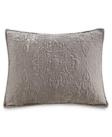 LAST ACT! Medallion Tufted Velvet Quilted King Sham, Created for Macy's