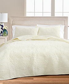 LAST ACT! Medallion Tufted Velvet Full/Queen Quilt, Created for Macy's