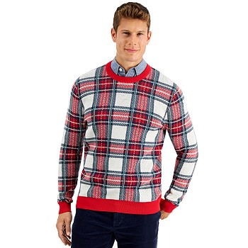 Charter Club Men's Plaid Sweater