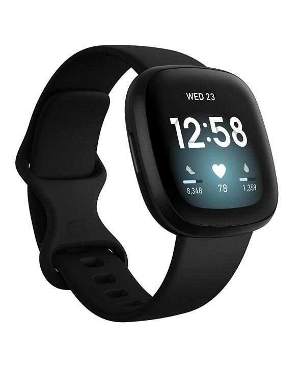 Fitbit Versa 3 Black Strap Smart Watch 39mm