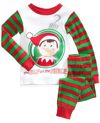 ame toddler boys 39 2 piece elf on the shelf pajamas kids. Black Bedroom Furniture Sets. Home Design Ideas