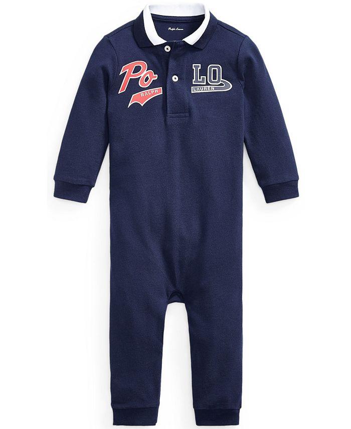 Polo Ralph Lauren - Baby Boys Logo Piqué Polo Coverall