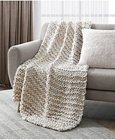 "Lacourte Chunky Heathered 50"" x 60"" Decorative Throw"