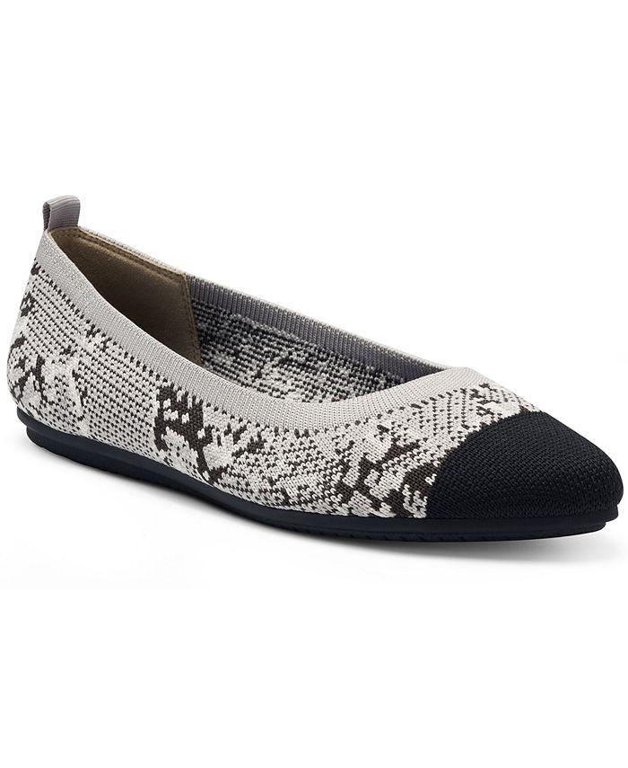 Vince Camuto - Women's Femillie Cap-Toe Washable Knit Flats