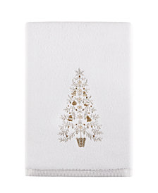"Martha Stewart Collection Holiday Tree 27"" x 50"" Bath Towel, Created for Macy's"