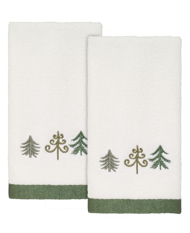 Avanti Christmas Trees Fingertip Towels, 2 Piece
