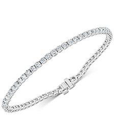 Diamond Tennis Bracelet (3-7/8 ct. t.w.) in 14k White Gold