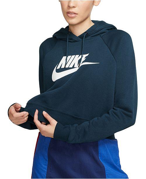 Women's Sportswear Essential Cropped Hoodie