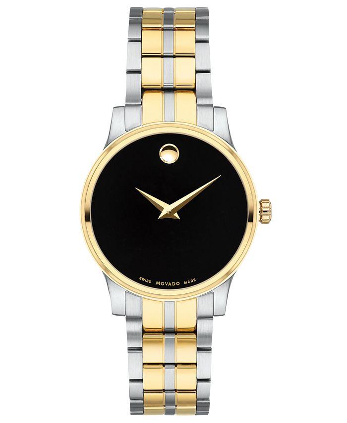 Movado - Women's Swiss Gold PVD & Stainless Steel Bracelet Watch 28mm