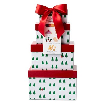 Hickory Farms Winter Woods Gift Tower