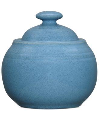 Noritake Colorvara Blue Sugar Bowl with Cover