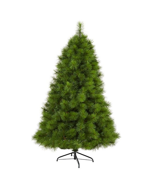 Nearly Natural Scotch Pine Artificial Christmas Tree with 300 Clear LED Lights