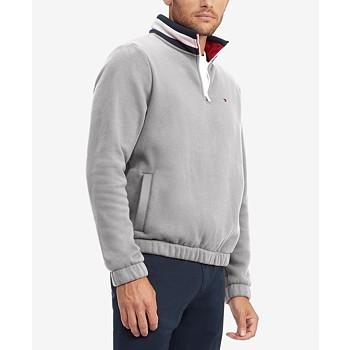 Tommy Hilfiger Men's Flags Classic-Fit 1/4-Zip Sweatshirt
