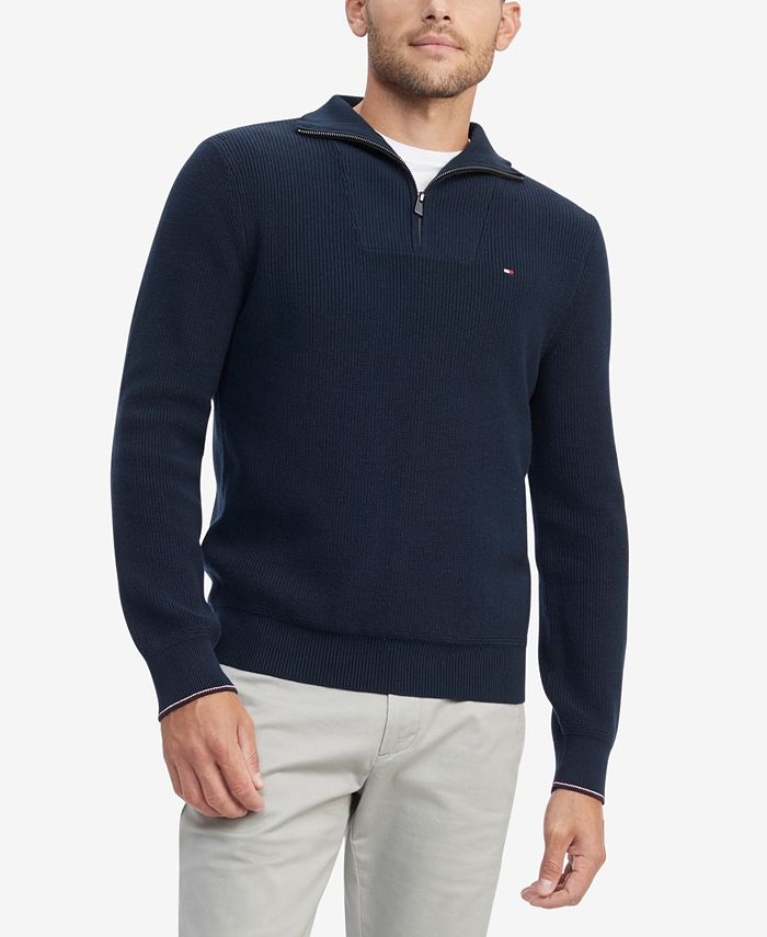 Tommy Hilfiger - Men's Peterson Classic-Fit 1/4-Zip Sweater