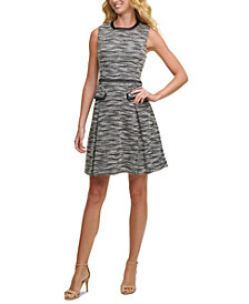 Tommy Hilfiger Tweed Fit & Flare Dress
