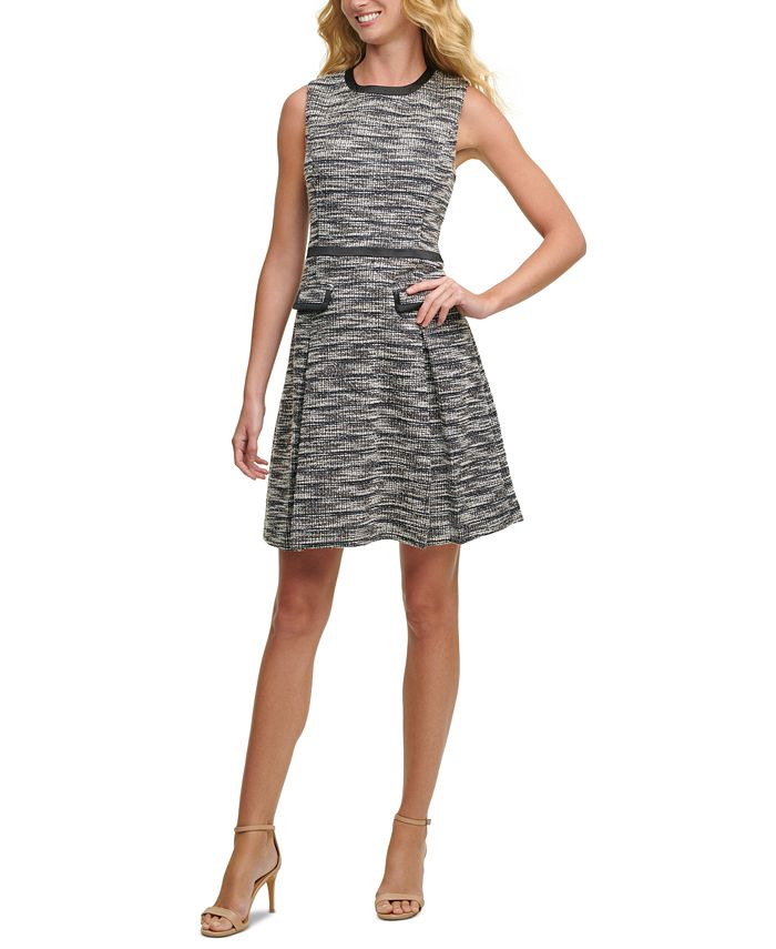 Tommy Hilfiger - Tweed Fit & Flare Dress