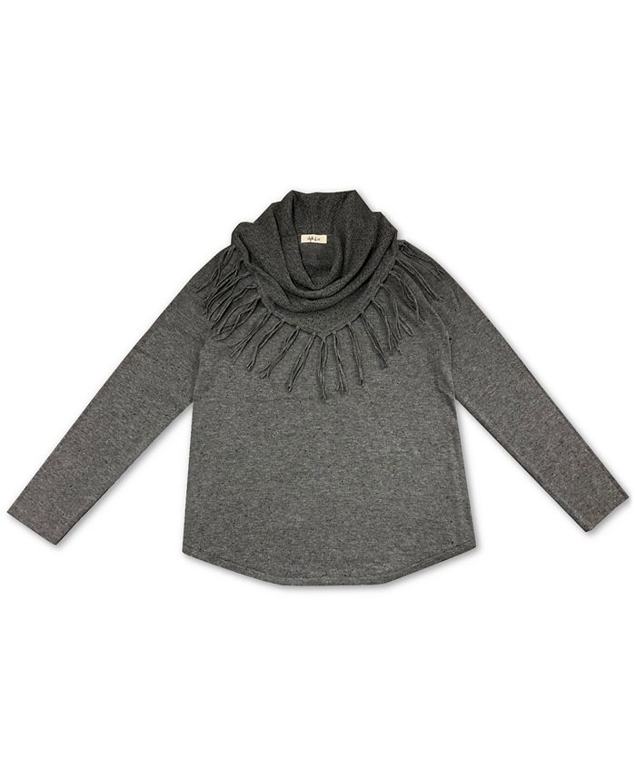 Style & Co - Fringe Cowl-Neck Sweater
