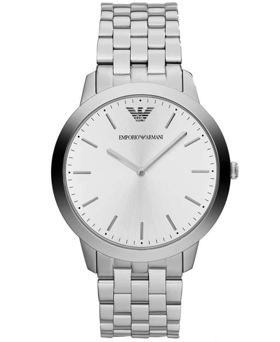 Emporio Armani Watch, Mens Dino Slim Stainless Steel Bracelet 42mm AR1745   Watches   Jewelry & Watches