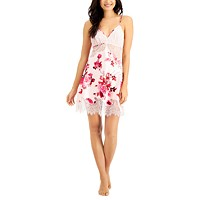 Deals on INC Floral-Print Lace Chemise Nightgown