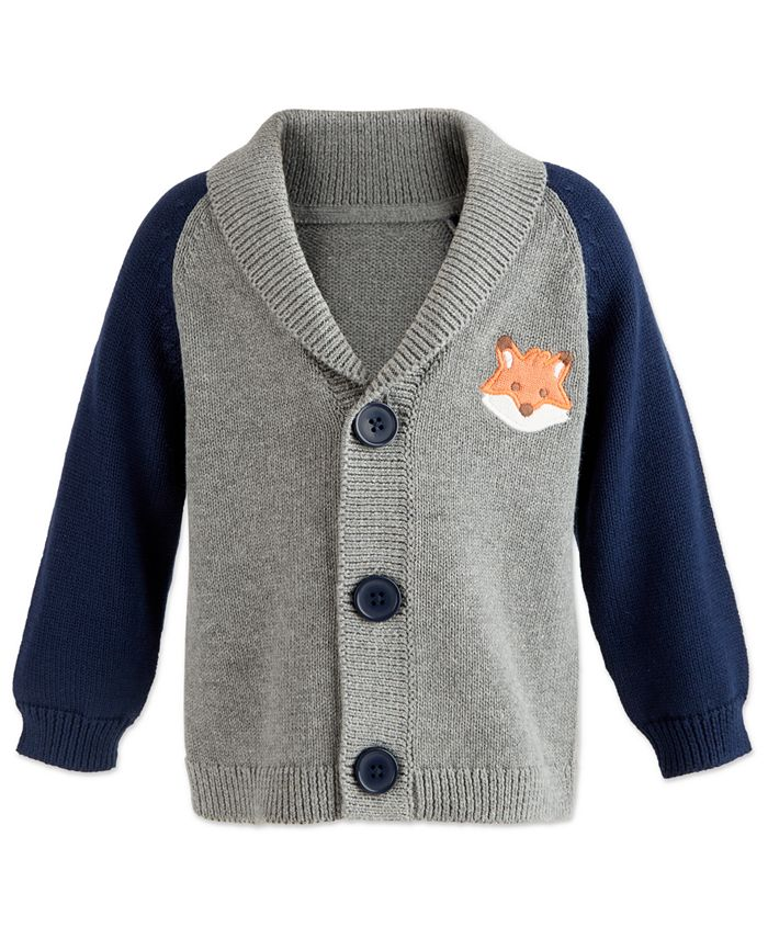 First Impressions - Baby Boys Shawl-Collar Cardigan